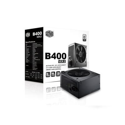 Блок питания Power Supply Cooler Master B400 v.2, 400W, ATX, 120mm, xSATA, xPCI-E(6+2), APFC, 80+