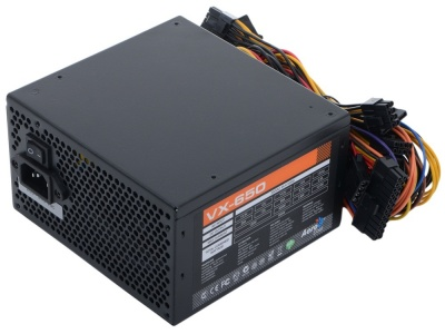 Блок питания Aerocool 650W Retail VX-650 ATX v2.3 A.PFC Haswell, fan 12cm, 450mm cable, power cord,