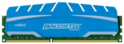 Память оперативная Ballistix Sport XT Crucial 8GB DDR3 1600 MT/s (PC3-12800) CL9 1.5V UDIMM 240pin B