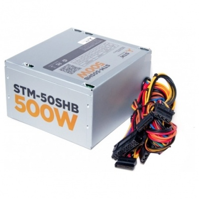 Блок питания STM-50SHB 500W, ATX, 120mm ball bearing, 3xSATA