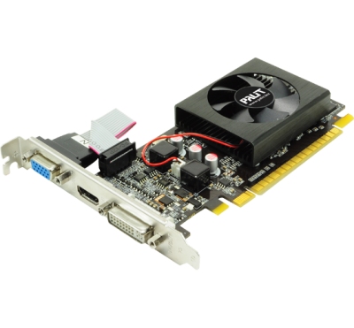 Видеокарта  PALIT GeForce GT 610 1Gb GDDR3 64-bit PCI-Ex16 3.0  DVI HDMI VGA 1-slot cooler Retail