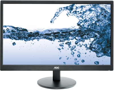 "Монитор 21.5"" AOC E2270SWDN Black (LED, LCD, Wide, 1920x1080, 5 ms, 90°/65°, 200 cd/m, 20M:1, +DVI)"