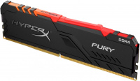 Память оперативная DDR4 16GB Kingston 2666MHz CL16 DIMM HyperX FURY RGB