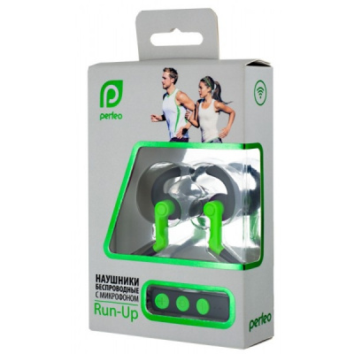 Гарнитура стерео Perfeo Run-Up Green